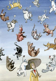 It's raining cat's and dogs